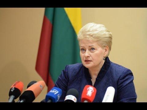 Lietuvos Respublikos Prezidentės Dalios Grybauskaitės spaudos konferencija