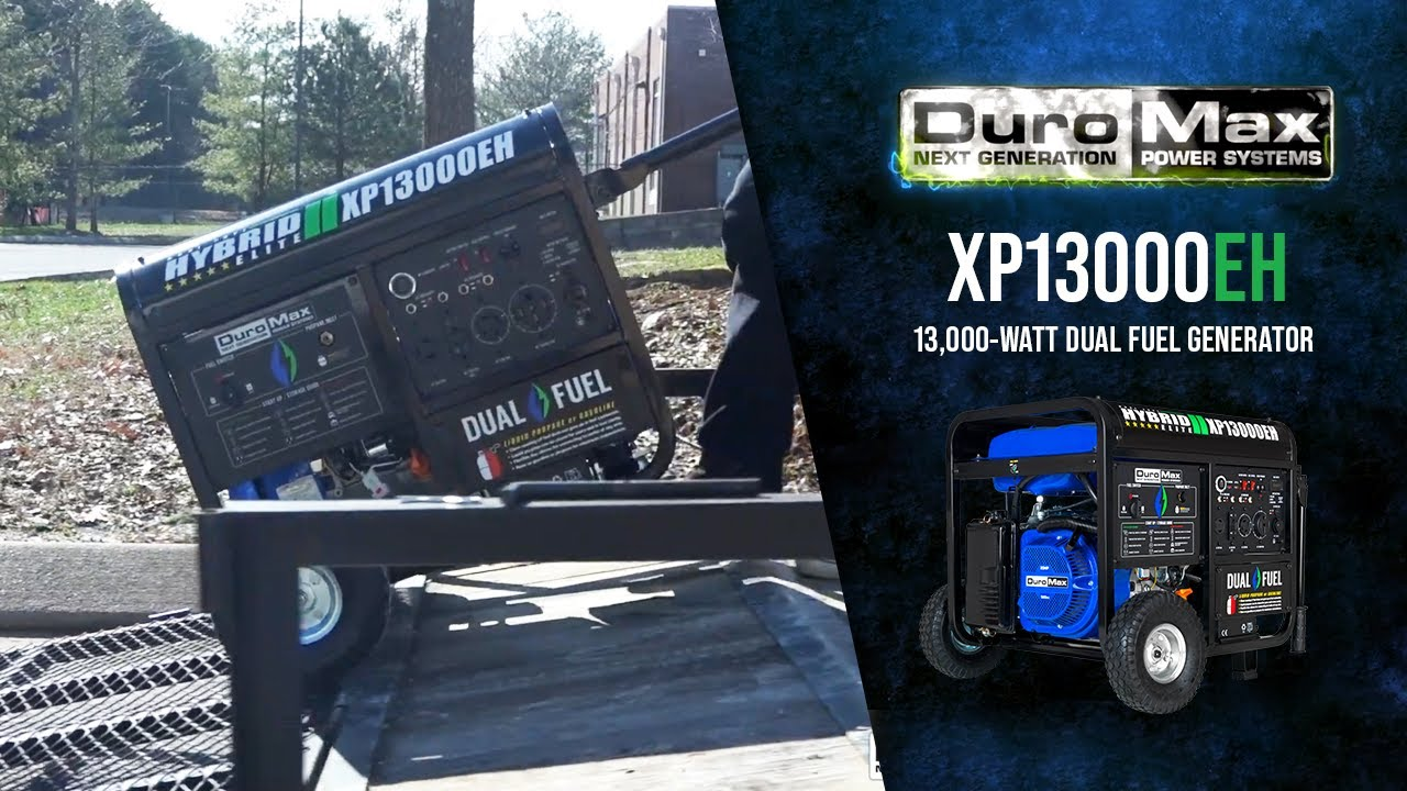 Duromax Xp13000eh 13000 Watt Portable Dual Fuel Hybrid Gas Propane Generator Youtube