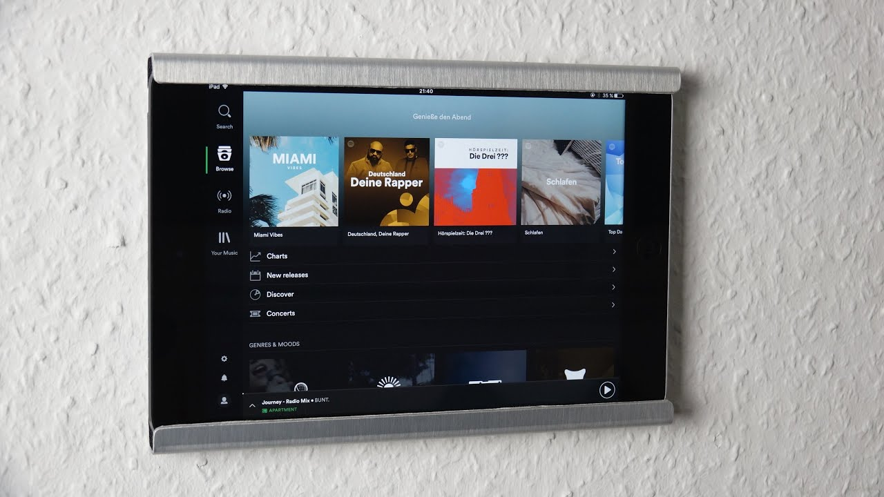 Amazing Ipad Wall Mount For 30 Diy Techcentury Youtube