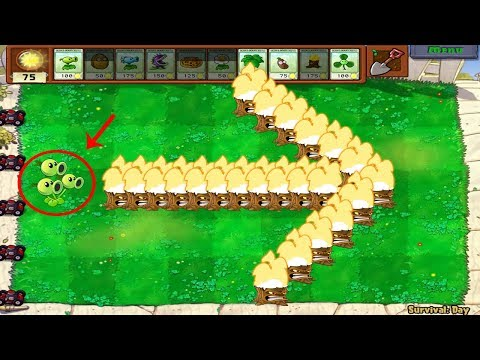 Plants Vs Zombies Hack - 1 Threepeater Vs 999 Gargantuar Zombie