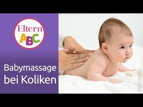 Baby-Koliken: Diese Massagegriffe Helfen | Dreimonatskoliken | Babymassage | Baby | Eltern ABC