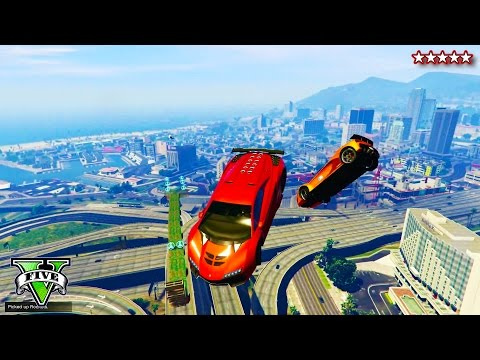 GTA 5 EPIC AIR Playlist - AWESOME GTA Races, Stunts Explosions & Destruction (GTA 5 Funny Moments)