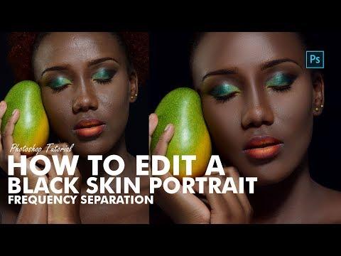 Photoshop Tutorial  -  How To Edit Black Skin Portrait thumbnail