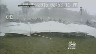 Shocking Video Moments Before Deadly Tent Collapse