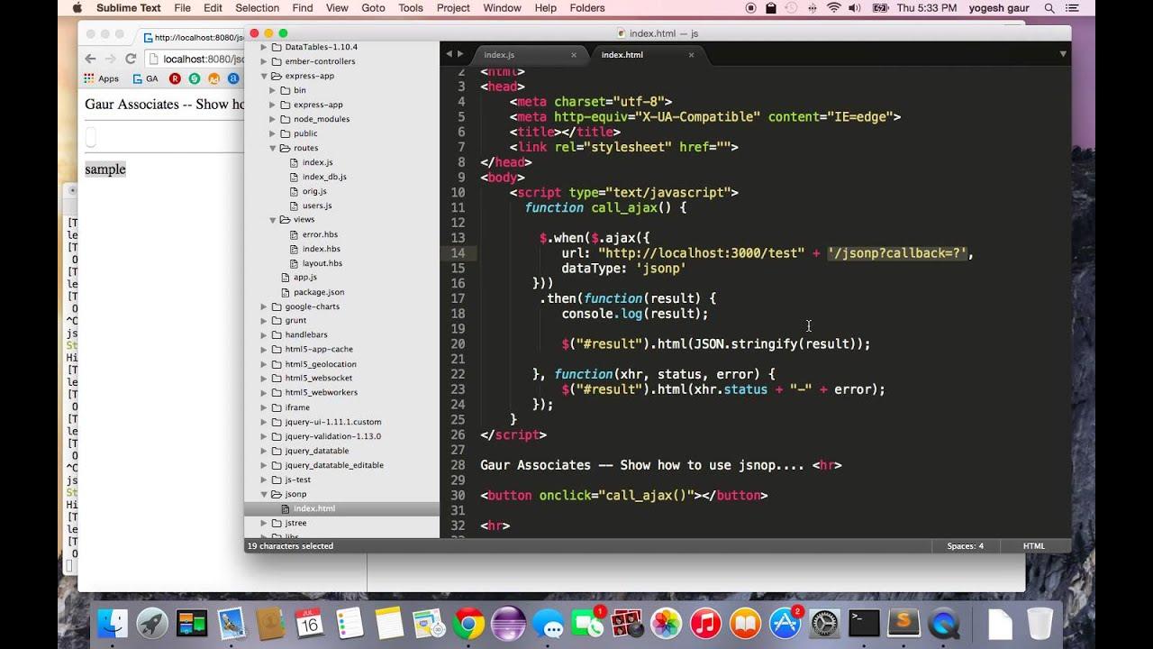 Jsonp Example Javascript