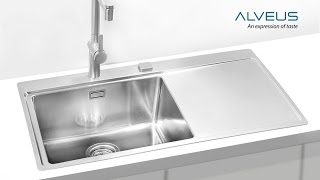 Установка кухонной мойки с сушкой Alveus (www.santehimport.com)(Посмотрев это видео, вы узнаете как фирма Alveus рекомендует устанавливать свои мойки из нержавеющей стали..., 2016-07-18T13:10:23.000Z)