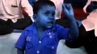 Marathi child boy political speech