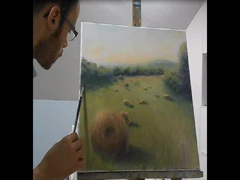 """Painting demonstration by Sam """" piece of nature in South France"""""""