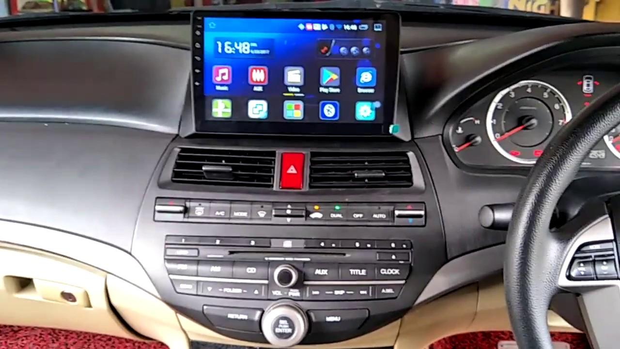 Honda Accord 2008 - Cogoo 10 1 inch Big Screen Android GPS HD Player - YouTube