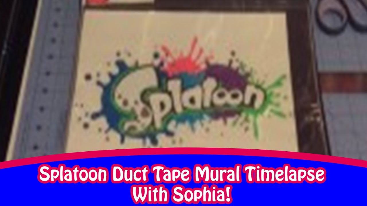 splatoon duct tape mural with sophia youtube On duct tape mural