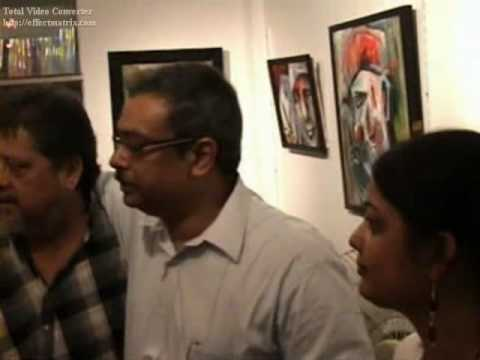 Goutam Ghose(film director) & Others visiting my exhibition at Artist Circle Gallery, Kolkata'09