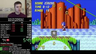 (17:52) Sonic the Hedgehog 2 (Sonic) speedrun