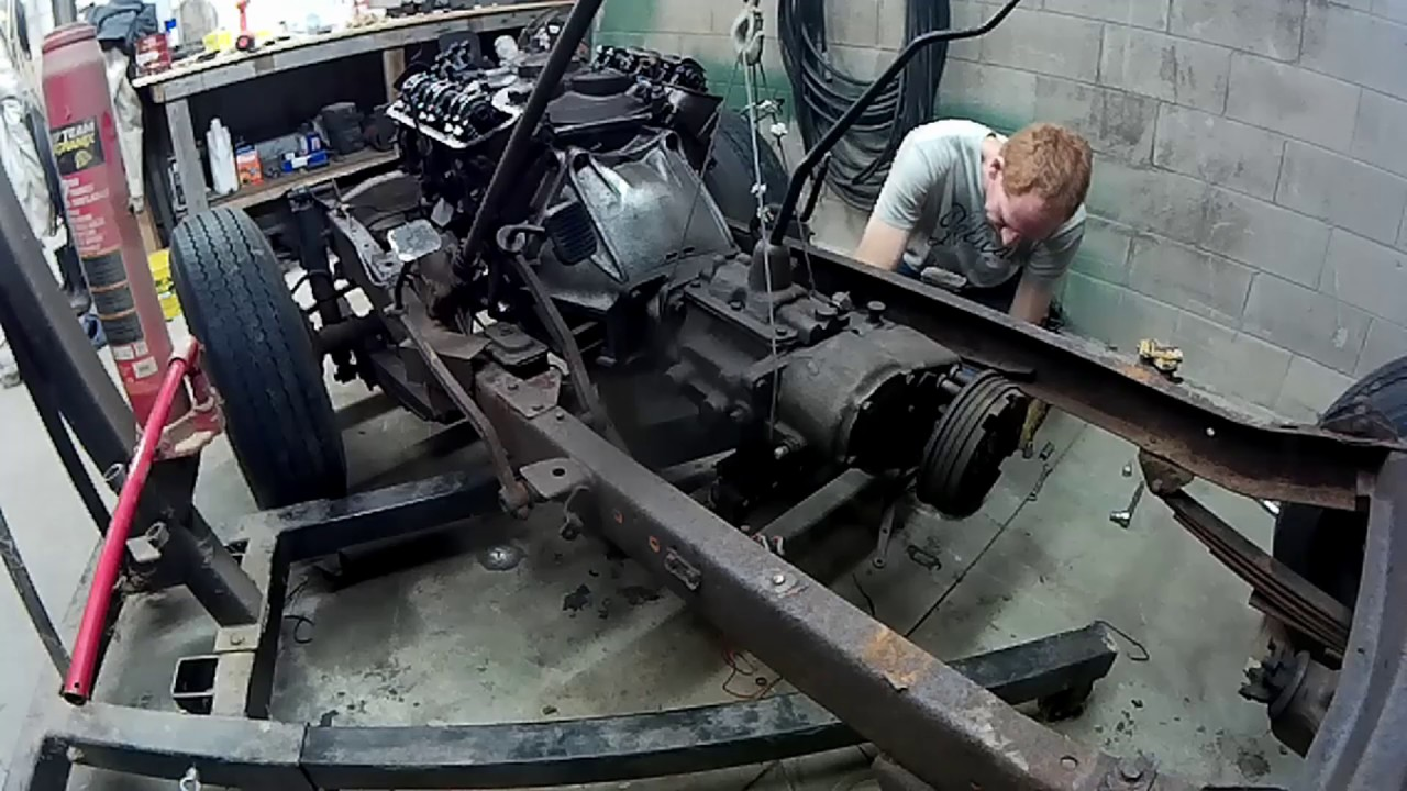 hight resolution of 1967 cj5 jeep engine and transmission removal 5