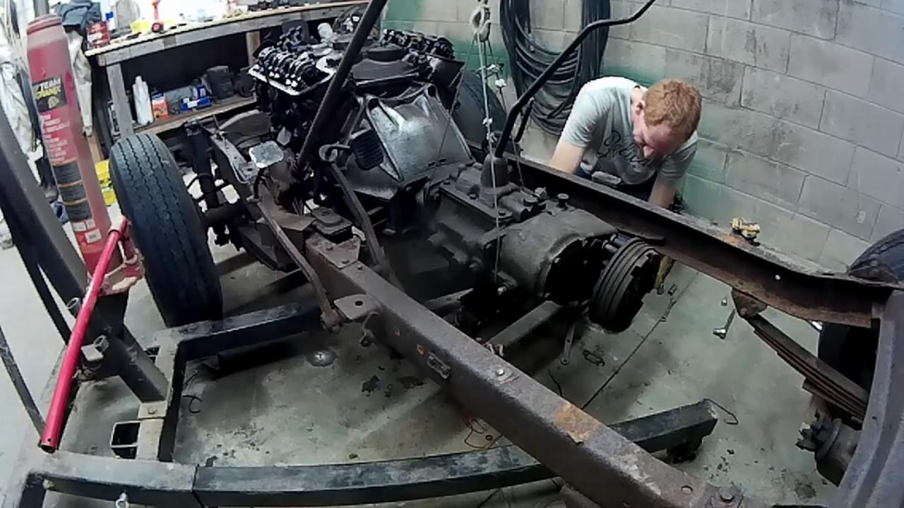 medium resolution of 1967 cj5 jeep engine and transmission removal 5