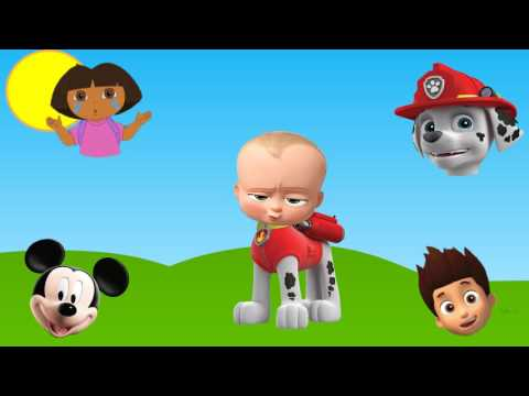 Thumbnail: Wrong Heads Mickey Mouse Clubhouse Paw Patrol Boss Baby Dora Finger Family Nursery Rhymes
