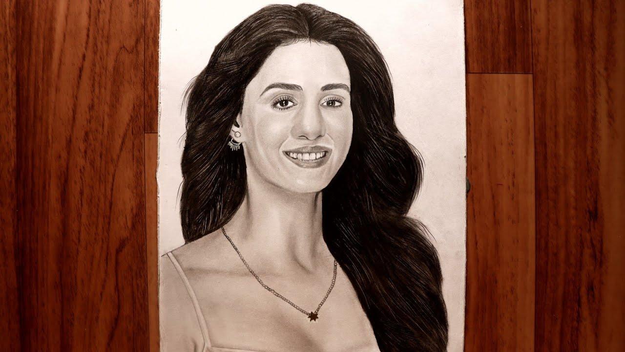 Disha Patani Drawing | Fine Arts Guruji | @DishaPatani