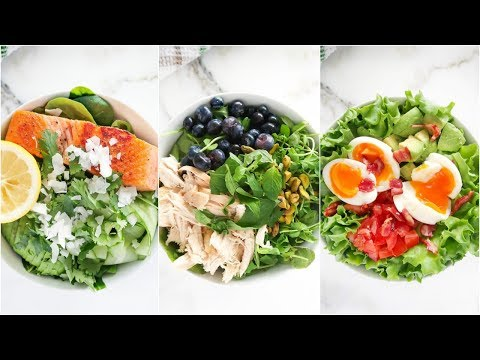 3 Healthy Salads That AREN'T BORING | lunch ideas