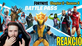 LEGMENŐBB BATTLE PASS ? Fortnite Chapter 2 Season 4 Battle Pass ELSŐ reakció | MARVEL MINDEN