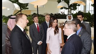 Official reception was arranged on behalf of Azerbaijani President Ilham Aliyev