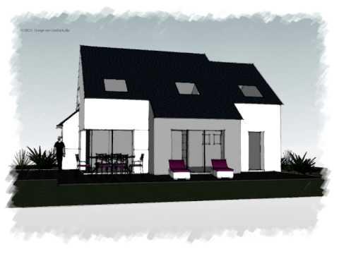 Arteco 314 maison 2 pans contemporaine youtube for Maison moderne toit 2 pans