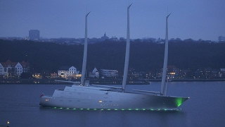 Incredible £360 million 'Sailing Yacht A' superyacht the length of one-and-a-half football pitches