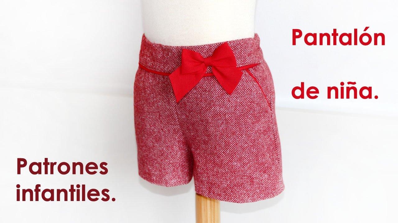 Shorts niña con bolsillo francés. Patrones infantiles. - YouTube