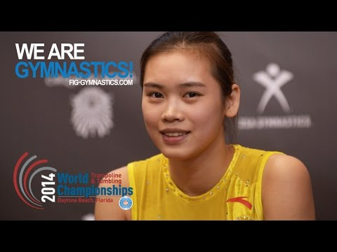 LIU Lingling (CHN) - 2014 Trampoline Worlds, Daytona Beach (USA)  - Qualifications Women