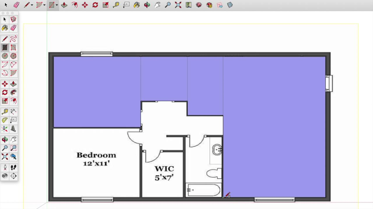 Sketchup architectural floor plan tutorial youtube for Floor plans in sketchup