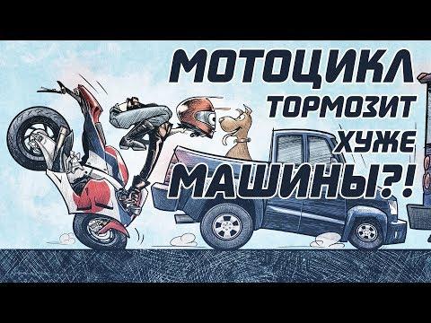 В чём не прав Настоящий Мотоциклист и почему с любой скорости мотоцикл тормозит хуже машины