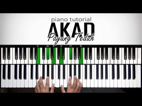 Belajar Piano - Akad Payung Teduh | Tutorial Advanced | Belajar Piano Keyboard