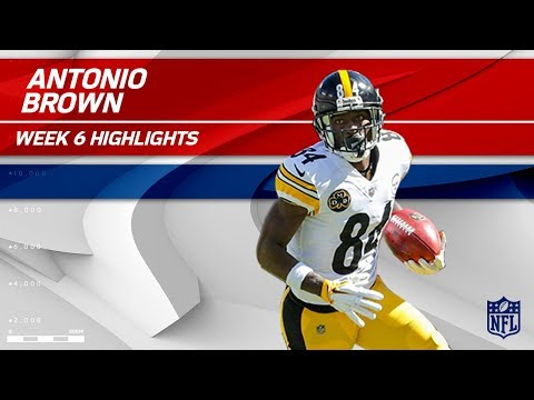 Antonio Brown's 8 Catches for 155 Yards & 1 TD! | Steelers vs. Chiefs | Wk 6 Player Highlights