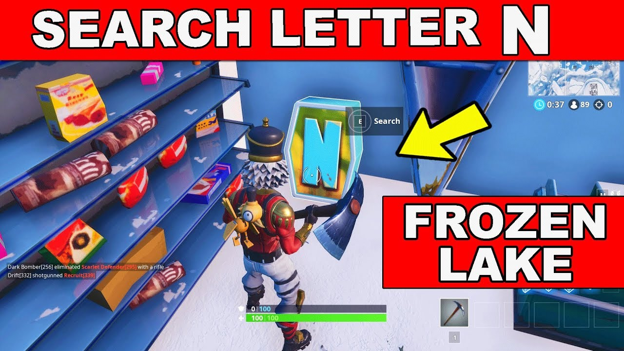 Search the letter 'N' under a Frozen Lake Location Week 4