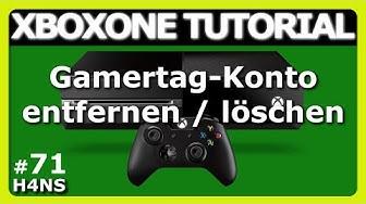 Gamertag Konto entfernen löschen XBOX ONE Tutorial | Deutsch/German