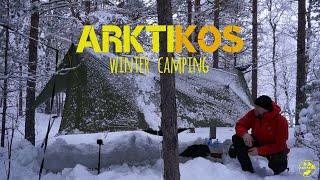Winter Hammock Camping iฑ Norway
