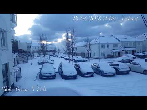 Ireland , Dublin Snow 28 February 2018 'Beast from East'