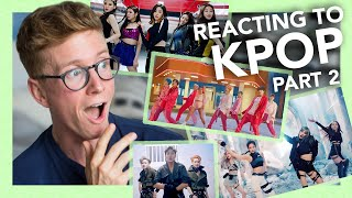 reacting to k-pop part 2 (blackpink, bts, monsta x & more!!)