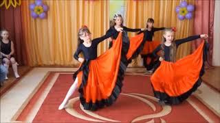 Испанский танец для девочек подготовительной группы