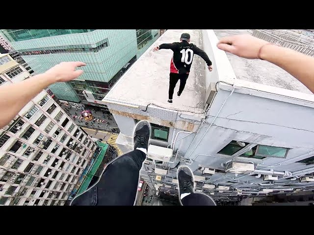 Rooftop POV Escape from Hong Kong security!