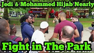 FULL VIDEO! MOHAMMED HIJAB Vs JEDI...NEARLY FIGHT AFTER LAST WEEK INCIDENT......SPEAKERS CORNER 2019