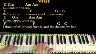 Come Sail Away (Styx) Piano Cover Lesson with Chords/Lyrics