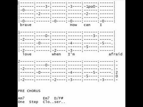 Christina Perri A Thousand Years Guitar Tab Youtube