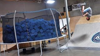 world s first moving trampoline foam pit