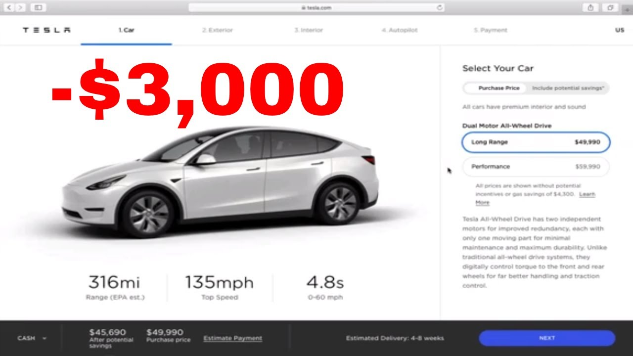 Tesla's Model Y just got a $3000 price cut