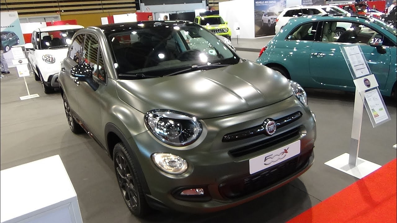 2018 fiat 500x s design 1 6 multiair 140 exterior and interior salon automobile lyon 2017. Black Bedroom Furniture Sets. Home Design Ideas