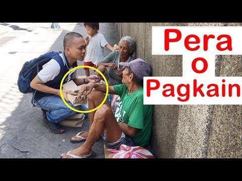 Pinoy SOCIAL EXPERIMENT: Pera o Pagkain (Homeless)