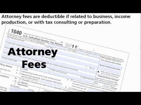 When Are Attorney Fees Deductible?