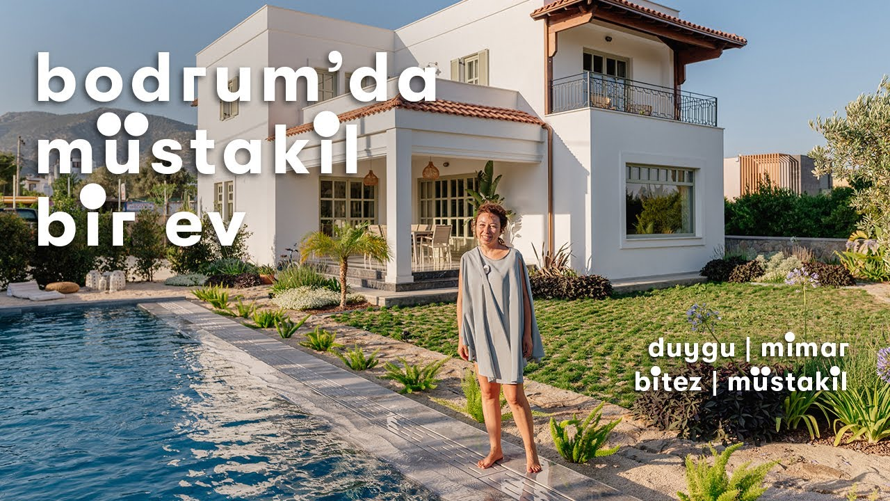 Download Bodrum'da Yaz-Kış Yaşanan Yalın ve Zevkli Bir Ev