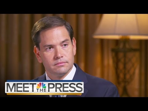 Marco Rubio Reaffirms Pro-Life Stance | Meet The Press | NBC News