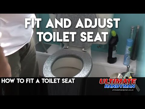 easy home toilet seat. How to adjust a toilet seat  how fit Ultimate Handyman DIY tips