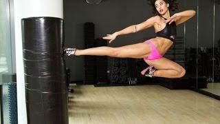 A bela filha do ator Van Damme, treina artes marciais e segue os passos do pai